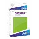 80x Supreme UX Sleeves Standard Size - Light Green