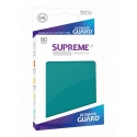 80x Supreme UX Sleeves Standard Size - Petrol Blue