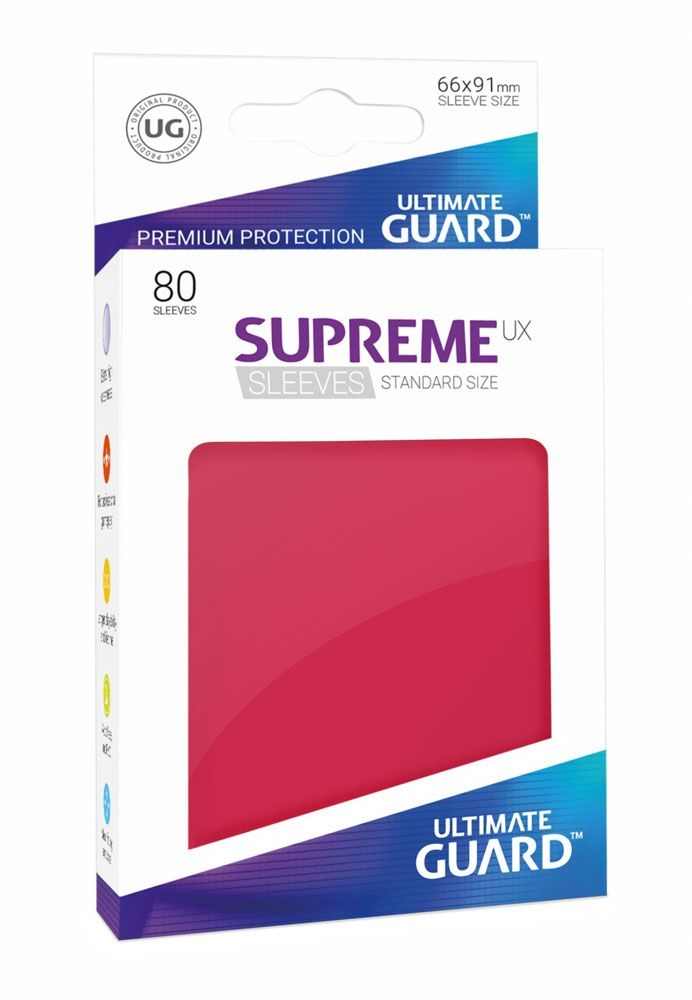 Blue Ultimate Guard Brand New 80x Supreme UX Sleeves Standard Size