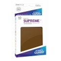 60x Supreme UX Sleeves Japanese Size Matte - Brown