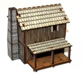 Pre-painted New France Settler's Loft Cabin