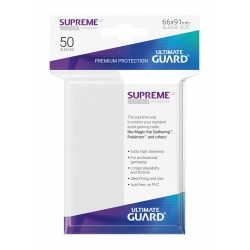 50x Supreme UX Sleeves Standard Size - White