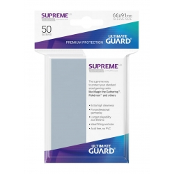 50x Supreme UX Sleeves Standard Size - Transparent