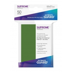 50x Supreme UX Sleeves Standard Size - Green