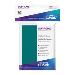 50x Supreme UX Sleeves Standard Size - Petrol Blue