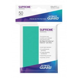 50x Supreme UX Sleeves Standard Size - Turquoise