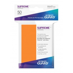50x Supreme UX Sleeves Standard Size - Orange