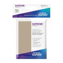 50x Supreme UX Sleeves Standard Size - Sand