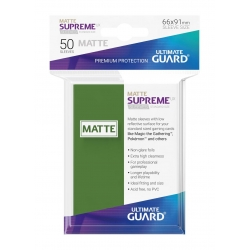50x Supreme UX Sleeves Standard Size Matte - Green