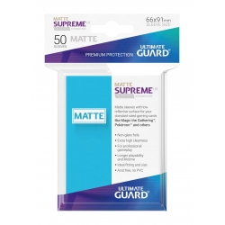 50x Supreme UX Sleeves Standard Size Matte - Light Blue