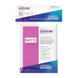 50x Supreme UX Sleeves Standard Size Matte - Pink