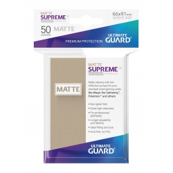 50x Supreme UX Sleeves Standard Size Matte - Sand