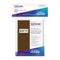 50x Supreme UX Sleeves Standard Size Matte - Brown