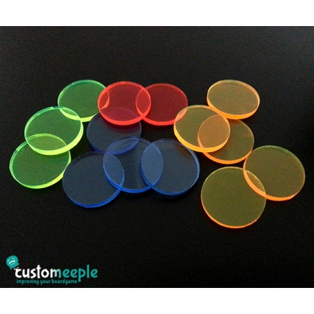Fluorescent Bases for Miniatures (Yellow)