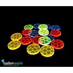 Etched Fluorescent Bases for Miniatures (Yellow)