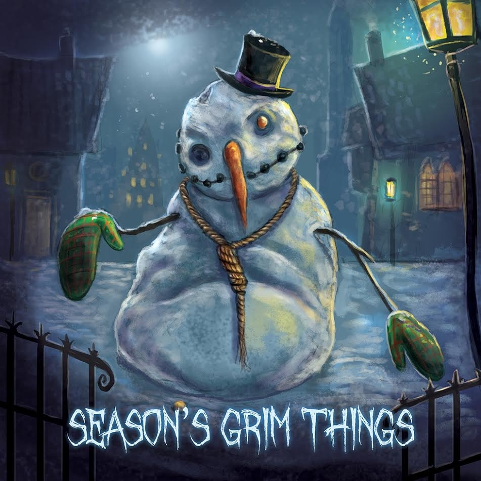 seasons grim things greeting cards scary snowman greeting cards
