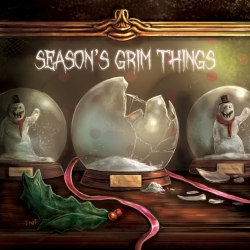 Seasons Grim Things Greeting Cards - Escaped Snowglobe