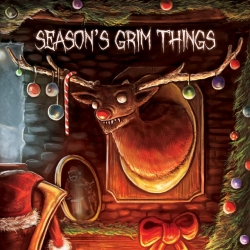 Seasons Grim Things Greeting Cards - Rudolf