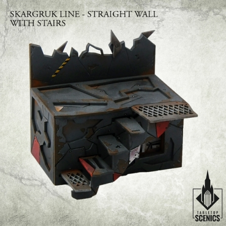 Skargruk Line - Straight Wall with Stairs