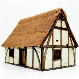 Pre-Painted High Medieval Cottage